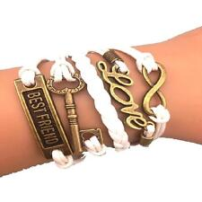 Bracelet infini love clé best friend infinity blanc