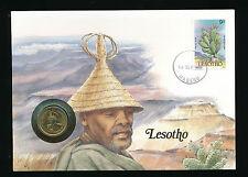Numis-Brief 1988 aus Lesotho  (B18)