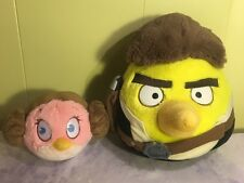 Angry Birds Star Wars HANS Han SOLO Princess Leia Plush Yellow Pink
