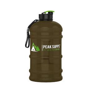 Large Water Bottle 2.2L Jug - Choose a Screw or Pop Lid - Peak Supps BPA FREE