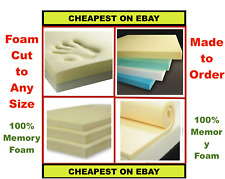 CUT TO SIZE CUSHION PADS HIGH DENSITY UPHOLSTERY MEMORY FOAM - 100% MEMORY