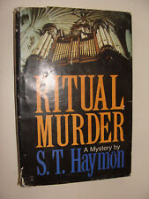Ritual Murder S. T. Haymon 1982, Hc  Detective-Inspector Benjamin Jurnet mystery