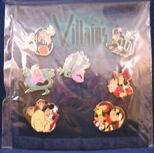 Disney Trading Pins VILLAINS CRUELLA and other Meanies  Sealed Booster Set of 7