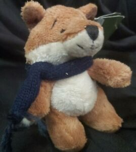 """Harrods Soft Hedgerow Fox (Bertie) With tag - 4"""" tall"""
