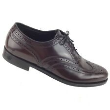 Florsheim Men's Wingtip Shoe Burgundy Oxford Size 10 3E Dress Shoes Lace Ups R73