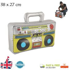 INFLATABLE BOOM BOX Blow Up 37 x 28cm Rapper Fancy Dress Stereo Stag Party Rasta