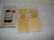 4X VERIZON CLEAR DISPLAY SCREEN PROTECTORS & CLEANING CLOTH FOR iPHONE 4 4S NEW