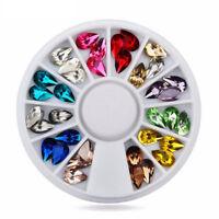3D Nail Art Crystal Rhinestones Glitters Acrylic Tips Decoration Manicure DIY