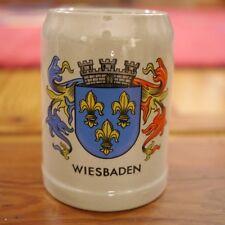 Vintage German Cities Collection Wiesbaden Salt Glazed Stoneware Beer Stein Mug