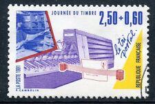 STAMP / TIMBRE FRANCE OBLITERE N° 2689 JOURNEE DU TIMBRE TRI POSTAL / DE CARNET
