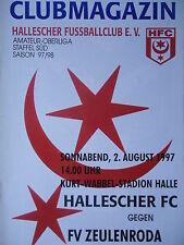 Programm 1997/98 HFC Hallescher FC - Zeulenroda