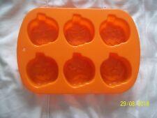 Silicona Dulce/Chocolate/Molde Cubo de hielo Naranja Halloween Calabazas