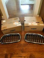2009-2015 BMW 5 Series F10 F11 LH (Dr) OEM Silver Front Bumper Kidney Grilles