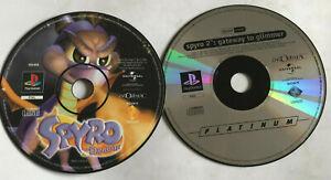 Spyro The Dragon & 2: Gateway To Glimmer / Disc Bundle / Playstation 1 PS1 PS2