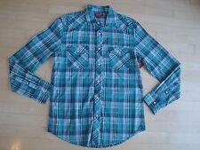 Arizona Jean Co. Men's Long Sleeve Snap Front  Poplin Plaid Shirt Size:Small $36