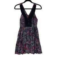 Anthropologie Staring At Stars Womens A Line Dress Multicolor Floral Mini Lace 0