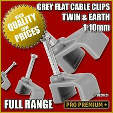Flat Grey Cable Clips Nail Holder Wall Tacks Clamps T&E Electrical Wire 6242Y