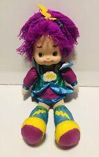 "Hallmark Rainbow Brite Friend Stormy 16"" Doll Plush Toy Purple Yarn Hair Retired"