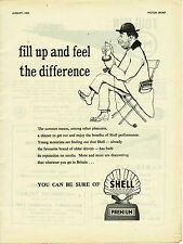 Shell Petrol Tramp car Product  Advertising 1953 fill up feel the difference
