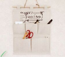 Hanging Storage Bag Organizer 5 Pocket Fabric Sundries Home Garden