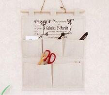 Hanging Storage Bag Organizer 5 Pocket Fabric Sundries Home Garden