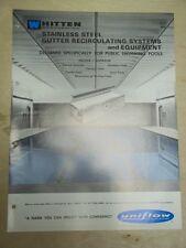 Vtg Whitten Corp Brochure~Uniflow Pool Systems/Gutter Recirculating~Catalog