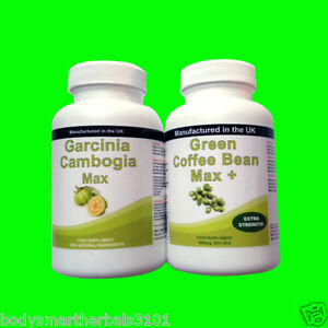 90 Garcinia Cambogia Pure Extreme Detox Plus 90 Green Coffee Bean Extract