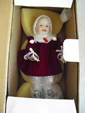 "Ashton Drake Porcelain Cloth Miniature Jennifer Girl Doll 6 1/2"" Tall NIB"