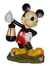 New listing Mickey Mouse Solar Led Garden Statue 15 inch Woods International 4021 Disney