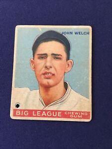 1933 Goudey John Welch #93