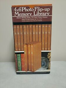 """Pioneer Photo Albums Le'Memo Flip up  Memory Library 4""""x6"""" Set BF-346 holds 300"""