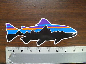 Patagonia Fish Fitzroy Mountain Trout Stickers Decals