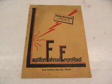 alter Katalog Nachtrag Lausitzer Fahrrad Engroshaus Bautzen 1938