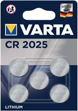 VARTA CR2025 Bouton Lithium 3 V Blister de 5 Piles - Date 2030