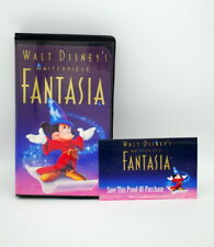 WALT DISNEY'S MASTERPIECE FANTASIA VHS TAPE WITH PROOF OF PURCHASE, 1991, USA