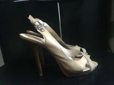 CHRISTIAN DIOR Tan / Nude Patent Leather Women's Heels Pumps Shoes Size 38