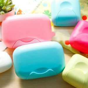 Bathroom Shower Travel Hiking Soap Box Dish Plate Holder Case Container