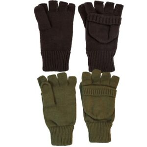 MENS SHOOTER MITTS 100% ACRYLIC ARMY GLOVES MITTENS SHOOTING HUNTING