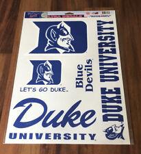 DUKE University BLUE DEVILS REUSABLE ULTRA DECALS BASKETBALL