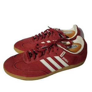 Talla Imperio seda  adidas Samba Red Athletic Shoes for Men for Sale | Authenticity Guaranteed  | eBay