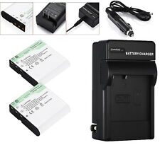 2x 1500mAh NP40 NP-40 Battery + Charger for Casio Exilim EX-P505 EX-P600 EX-Z750