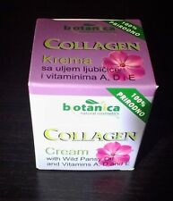 Collagen Botanica Cream with wild Pansy Oil and vitamins A, D and E 100% natural