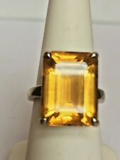 TIFFANY & CO 925 STERLING SILVER 20 CT CITRINE RING. SIZE 6.25