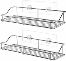 SMARTAKE 2-Pack 13in Stainless Shower Caddy - Easy Adhesive Wall Mounted Shelf