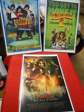 Great set of  3 MOVIE Posters-Camp Rock-Madagascar 2-Narnia..Price Caspian..SALE