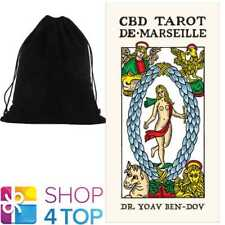 CBD TAROT DE MARSEILLE CARDS DECK DR YOAV BEN DOV ESOTERIC ASTROLOGY VELVET BAG