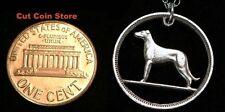 Ireland Irish 6 Pence Dog Cut Coin Jewelry Pendant Charm Necklace