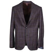 Barba Napoli Slim-Fit Soft Check Wool-Silk-Cashmere Sport Coat 42R (Eu 52) $1350