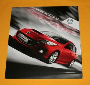 Mazda 3 MPS 2009 Prospekt Brochure Depliant Prospetto Catalog Folder каталог