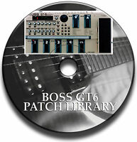 BOSS GT-6 PRE-PROGRAMMED TONE PATCH LIBRARY GUITAR EFFECTS PEDAL CD
